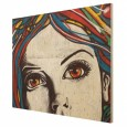 Punk Graffiti Wood Print - street art wall hanging