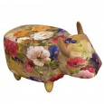 Maude the Floral Cow Footstool - Red Candy