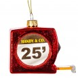 Tape Measure Shaped Bauble - Red Candy