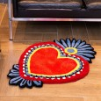 Milagro Heart Rug (Medium) - Red Candy