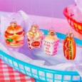 Mini Junk Food Baubles (Set of 4) - Red Candy