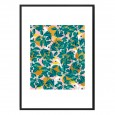 Isle Art Framed Print - tropical cockatoo art print - 83 Oranges