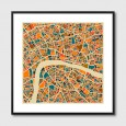 London Map Framed Print – London map art print