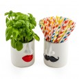 Mr & Mrs Potty Planters - Red Candy