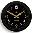 Newgate 50s Electric Wall Clock (Black) - Red Candy