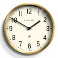 Newgate Master Edwards Clock (Radial Brass) - Red Candy