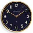 Newgate Mr Edwards Clock (Radial Brass) - Red Candy