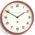 Newgate Number One Echo Clock - Red - large modern wall clock