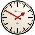 Newgate Putney Clock - black round metal clock