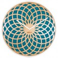 Nextime Large Sun Clock - Turquoise - spirograph wood wall clock