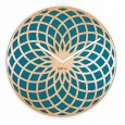 Nextime Sun Clock - Turquoise - spirograph wood wall clock
