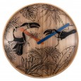 Nextime Tropical Birds Wall Clock - Red Candy