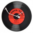 Nextime Vinyl Tap Clock - designer glass record clock