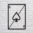 Ace of Spades Metal Wall Art - Red Candy