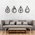 Four Elements Metal Wall Art - Red Candy