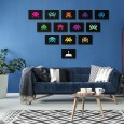 Space Invaders Art Print Set - Red Candy