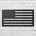 USA Flag Metal Wall Art - Red Candy
