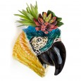 Peaches the Parrot Wall Planter - Red Candy