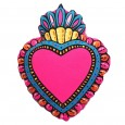 Pink Milagro Heart Cushion - Red Candy