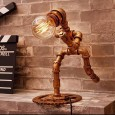 Pipe Person Running Lamp - Red Candy