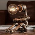 Pipe Person Sitting Lamp - Red Candy