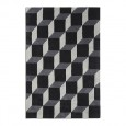 Geometric Rug - black contemporary rug