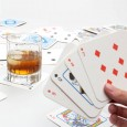 Playing Card Drink Mats - Red Candy