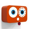 Cucchino Cuckoo Clock - orange cartoon kitchen wall clock