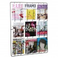 Frame-9 Magazine Rack - Matt Black - wall mounted storage rack