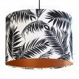 Black and White Tropical Leaf Lampshade (Copper) - Red Candy