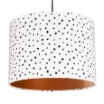 Dalmatian Spots Lampshade (Copper) - Red Candy
