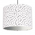 Dalmatian Spots Lampshade (Silver) - Red Candy