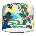 Kitty McCall Hockney Drum Lampshade - Red Candy