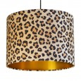 Leopard Animal Print Drum Lampshade (Gold) - Red Candy