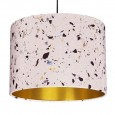 Terrazzo Print Lampshade (Blush) - Red Candy