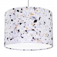 Terrazzo Print Lampshade (White) - Red Candy