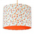 Geometric Triangles Lampshade (Orange) - Red Candy