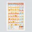 Classic Cheeses of the World Tea Towel - Red Candy