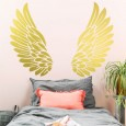 Gold Angel Wings Wall Sticker - Red Candy