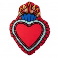Red Milagro Heart Cushion - Red Candy