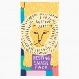 Resting Snack Face Tea Towel - Red Candy
