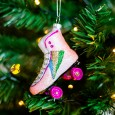 Retro Rollerskate Shaped Bauble - Red Candy