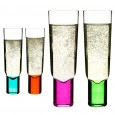 Sagaform Club Champagne Glasses - colourful champagne flutes
