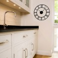 Classic Clock Wall Sticker - large unusual wall clock sticker