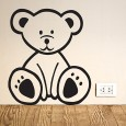Bear Wall Sticker - Red Candy