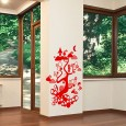 Forest Tree Creatures Wall Sticker - Red Candy