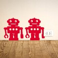 Robots Wall Sticker - Set of 12 - robots wall decor set