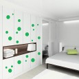 Spots Wall Sticker Set - Red Candy