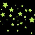 Glow in the Dark Star Mix Wall Stickers - Red Candy