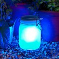 Suck UK Sun Jar in Blue - modern solar garden lamp